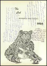Page 5, 1954 Edition, Brownfield High School - Cub Yearbook (Brownfield, TX) online yearbook collection
