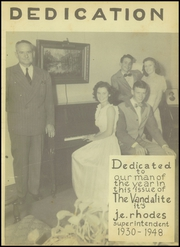 Page 7, 1948 Edition, Van High School - Vandalite Yearbook (Van, TX) online yearbook collection