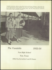 Page 5, 1954 Edition, Van High School - Vandalite Yearbook (Van, TX) online yearbook collection