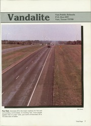 Page 5, 1985 Edition, Van High School - Vandalite Yearbook (Van, TX) online yearbook collection