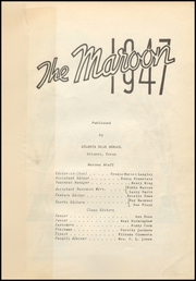 Page 7, 1947 Edition, Atlanta High School - Maroon Yearbook (Atlanta, TX) online yearbook collection