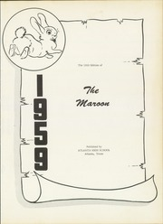 Page 5, 1959 Edition, Atlanta High School - Maroon Yearbook (Atlanta, TX) online yearbook collection