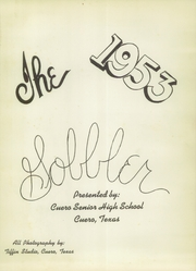 Page 5, 1953 Edition, Cuero High School - Gobbler Yearbook (Cuero, TX) online yearbook collection