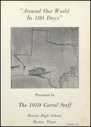 Page 5, 1959 Edition, Devine High School - Corral Yearbook (Devine, TX) online yearbook collection