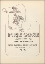 Page 7, 1949 Edition, New Boston High School - Pine Cone Yearbook (New Boston, TX) online yearbook collection