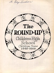 Page 7, 1946 Edition, Childress High School - Round Up Yearbook (Childress, TX) online yearbook collection