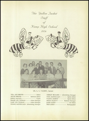 Page 5, 1956 Edition, Kemp High School - Yellow Jacket Yearbook (Kemp, TX) online yearbook collection
