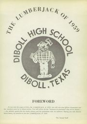 Page 5, 1959 Edition, Diboll High School - Lumberjack Yearbook (Diboll, TX) online yearbook collection
