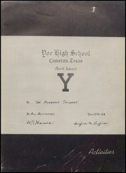 Page 13, 1954 Edition, Yoe High School - Yoe Yoe Yearbook (Cameron, TX) online yearbook collection