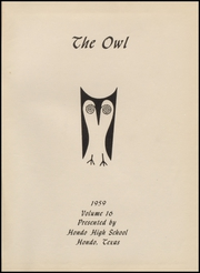 Page 5, 1959 Edition, Hondo High School - Owl Yearbook (Hondo, TX) online yearbook collection