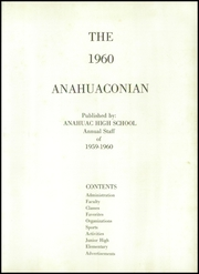 Page 5, 1960 Edition, Anahuac High School - Anahuaconian Yearbook (Anahuac, TX) online yearbook collection