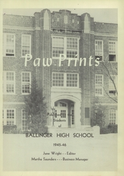 Page 5, 1946 Edition, Ballinger High School - Paw Prints Yearbook (Ballinger, TX) online yearbook collection