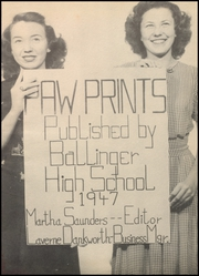 Page 5, 1947 Edition, Ballinger High School - Paw Prints Yearbook (Ballinger, TX) online yearbook collection