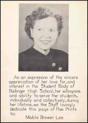 Page 14, 1952 Edition, Ballinger High School - Paw Prints Yearbook (Ballinger, TX) online yearbook collection