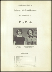 Page 5, 1954 Edition, Ballinger High School - Paw Prints Yearbook (Ballinger, TX) online yearbook collection