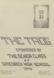 Page 5, 1940 Edition, Groesbeck High School - Taog Yearbook (Groesbeck, TX) online yearbook collection