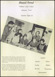 Page 5, 1956 Edition, Coleman High School - Corral Yearbook (Coleman, TX) online yearbook collection