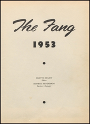 Page 5, 1953 Edition, Jacksboro High School - Fang Yearbook (Jacksboro, TX) online yearbook collection