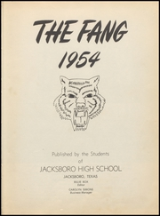 Page 7, 1954 Edition, Jacksboro High School - Fang Yearbook (Jacksboro, TX) online yearbook collection