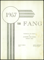 Page 5, 1957 Edition, Jacksboro High School - Fang Yearbook (Jacksboro, TX) online yearbook collection