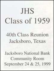 Page 3, 1959 Edition, Jacksboro High School - Fang Yearbook (Jacksboro, TX) online yearbook collection