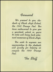 Page 9, 1949 Edition, Stark High School - Orange Peel Yearbook (Orange, TX) online yearbook collection