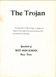 Page 5, 1953 Edition, West High School - Trojan Yearbook (West, TX) online yearbook collection