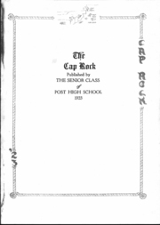 Page 4, 1923 Edition, Post High School - Caprock Yearbook (Post, TX) online yearbook collection