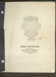 1938 Edition, Post High School - Caprock Yearbook (Post, TX)