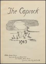 Page 5, 1945 Edition, Post High School - Caprock Yearbook (Post, TX) online yearbook collection