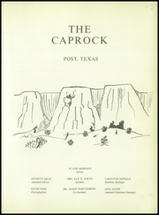 Page 5, 1956 Edition, Post High School - Caprock Yearbook (Post, TX) online yearbook collection