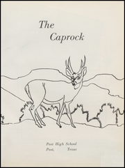Page 5, 1959 Edition, Post High School - Caprock Yearbook (Post, TX) online yearbook collection