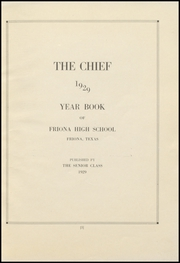 Page 7, 1929 Edition, Friona High School - Chieftain Yearbook (Friona, TX) online yearbook collection