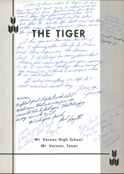 Page 5, 1961 Edition, Mount Vernon High School - Tiger Yearbook (Mount Vernon, TX) online yearbook collection