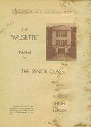 Page 3, 1939 Edition, Electra High School - Bengal Yearbook (Electra, TX) online yearbook collection