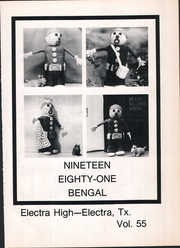 Page 5, 1981 Edition, Electra High School - Bengal Yearbook (Electra, TX) online yearbook collection