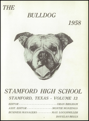 Page 5, 1958 Edition, Stamford High School - Bulldog Yearbook (Stamford, TX) online yearbook collection
