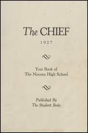 Page 5, 1927 Edition, Nocona High School - Chief Yearbook (Nocona, TX) online yearbook collection