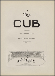 Page 5, 1931 Edition, Olney High School - Cub Yearbook (Olney, TX) online yearbook collection