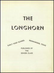 Page 5, 1954 Edition, Early High School - Longhorn Yearbook (Early, TX) online yearbook collection