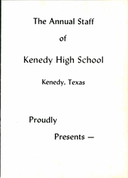Page 5, 1965 Edition, Kenedy High School - Lion Yearbook (Kenedy, TX) online yearbook collection