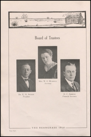 Page 12, 1918 Edition, Canadian High School - Beargrass Yearbook (Canadian, TX) online yearbook collection