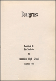 Page 7, 1952 Edition, Canadian High School - Beargrass Yearbook (Canadian, TX) online yearbook collection