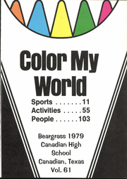 Page 5, 1979 Edition, Canadian High School - Beargrass Yearbook (Canadian, TX) online yearbook collection