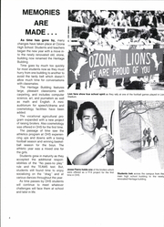 Page 8, 1986 Edition, Ozona High School - Lion Yearbook (Ozona, TX) online yearbook collection