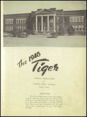 Page 7, 1948 Edition, Anson High School - Tiger Yearbook (Anson, TX) online yearbook collection
