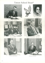 Page 10, 1971 Edition, Tatum High School - Eagle Yearbook (Tatum, TX) online yearbook collection