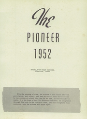 Page 5, 1952 Edition, Hamilton High School - Pioneer Yearbook (Hamilton, TX) online yearbook collection