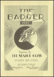 Page 5, 1937 Edition, McCamey High School - Badger Yearbook (McCamey, TX) online yearbook collection