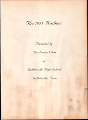 Page 5, 1955 Edition, Hallettsville High School - Brahma Yearbook (Hallettsville, TX) online yearbook collection